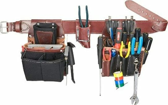 electrician tool belt with suspenders